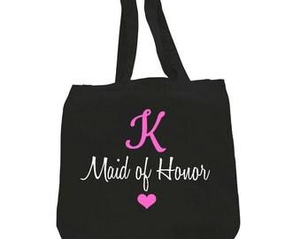 Monogram Maid of honor,monogram maid of honor tote,monogram maid of honor gift,initial maid of honor gift,personalized maid of honor