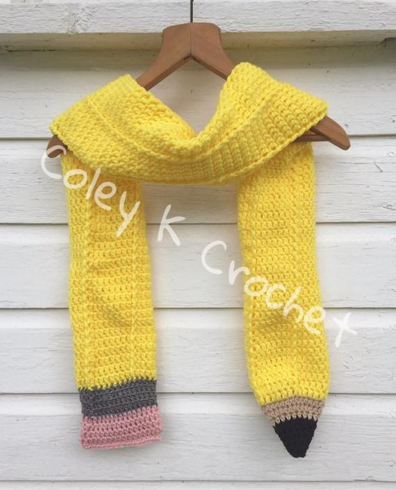 Pencil Scarf Crochet Pattern