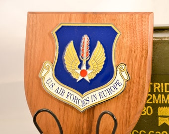 US Air Forces in Europe Plaque - ACC Militaria - Air Force Collectible - U.S.A. Collectible - USAFE