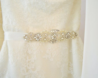 Bridal Sash Wedding Belt Sash Rhinestone Wedding Gown Belt Sash Bridesmaid Sash belt Crystal Dress Belt, Wedding sahs
