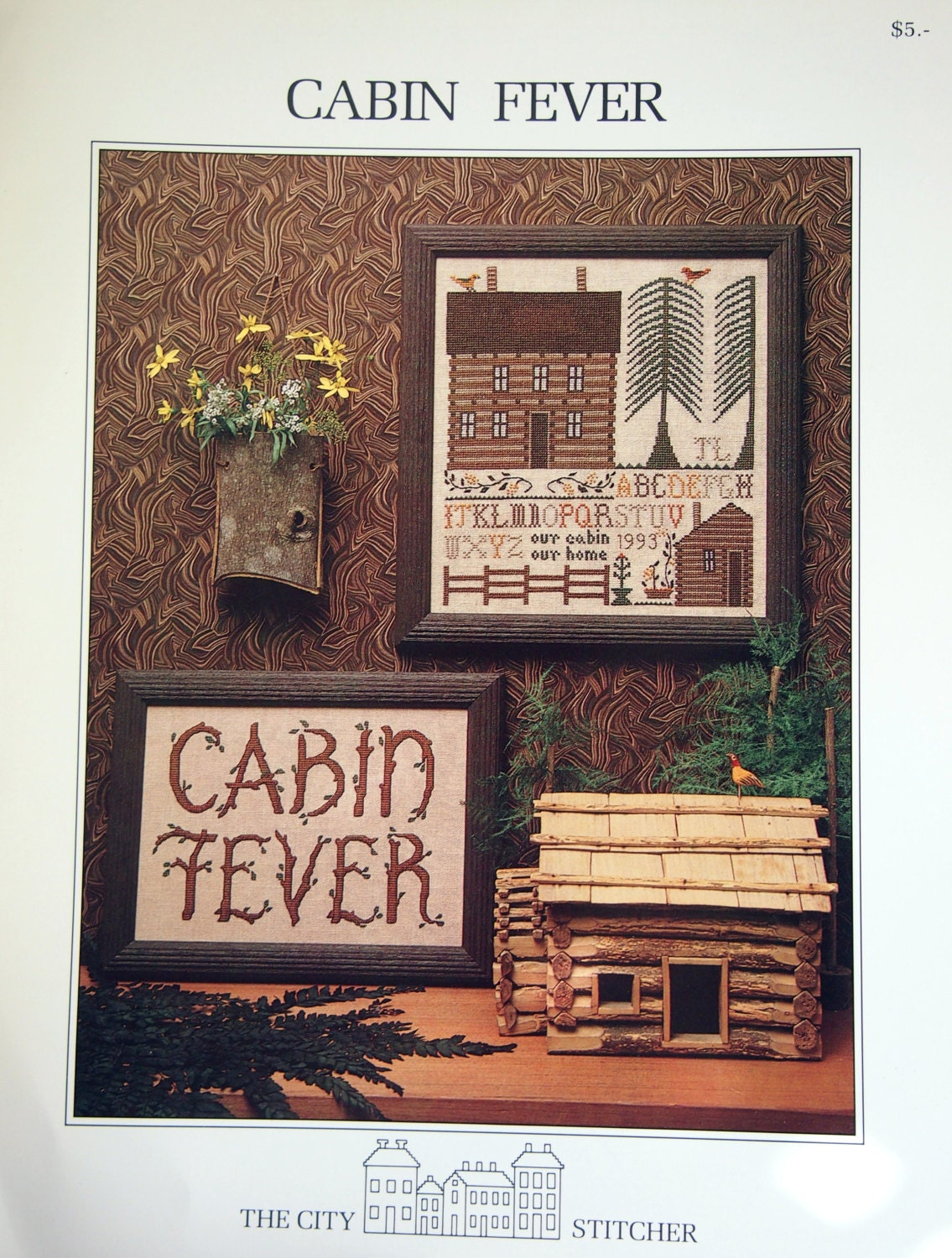 Very Impressive portraiture of Cabin Fever By The City Stitcher Vintage Cross by NeedANeedle with #955336 color and 1135x1500 pixels