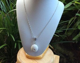 Sea urchin porcelain necklace