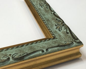 Mint Green Frame, Ornate Picture Frame, Vintage Style Frame, Luxury Frame, Antique Design, 3x5, 4x6, 5x7, 8x10, 11x14, 16x20 + Custom Sizes