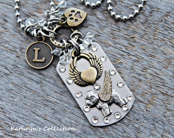 Bichon Frise Angel Dog Tag Necklace, Bichon Jewelry, Bichon Memorial/Keepsake