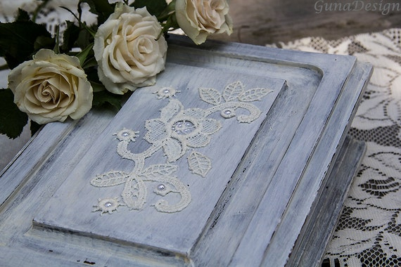 Shabby Chic White Washed Wedding Case