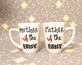 11 oz. Mother of the Bride/Groom and Father of the Bride/Groom Mugs