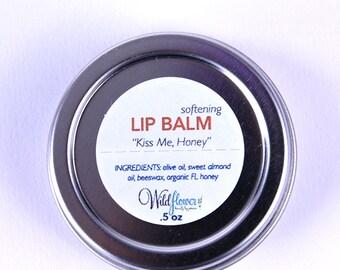 Kiss Me, Honey - Honey Lip Balm - 100% Natural Beeswax Balm