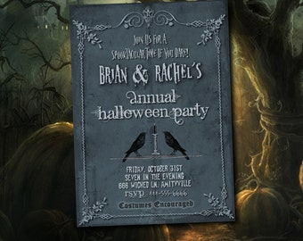 Halloween Party Invitation, Halloween Invitation, Halloween, Scary Halloween Invitation, Halloween Party, Halloween Birthday Party