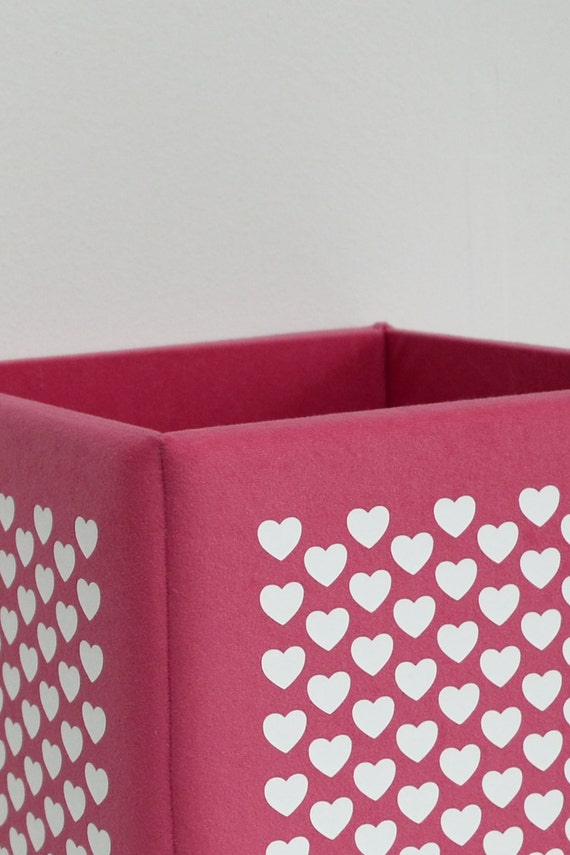 modern pink toy storage box basket cube organization by