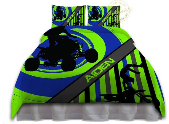 dirt bike bettw sche set motocross bettw sche f r kids boys. Black Bedroom Furniture Sets. Home Design Ideas