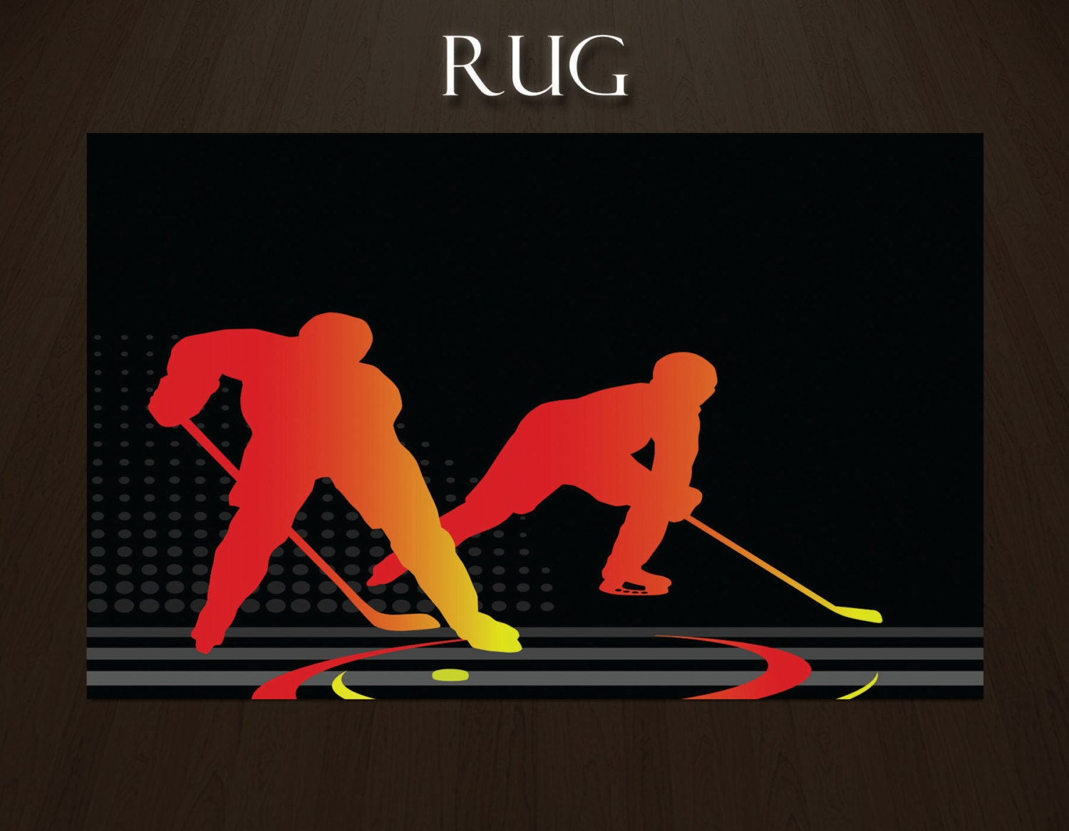 hockey rugs boys room rugs sports area rugs by eloquentinnovations. Black Bedroom Furniture Sets. Home Design Ideas