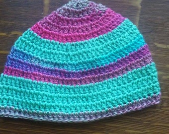 Multicolored, Lightweight Crocheted Hat