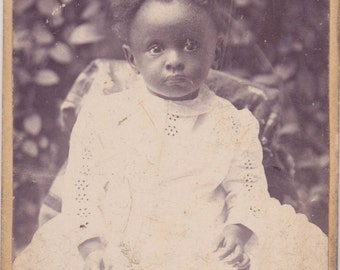 Antique CDV photograph - Beautiful African American Baby