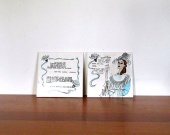 Wheeling Cushion Reg Dorothy Sarnoff Hot Plate Trivet Pair