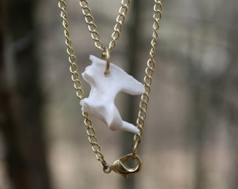 Axis Vertebrae Bone Necklace