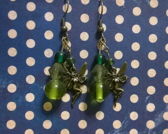 Green Fairy Earrings