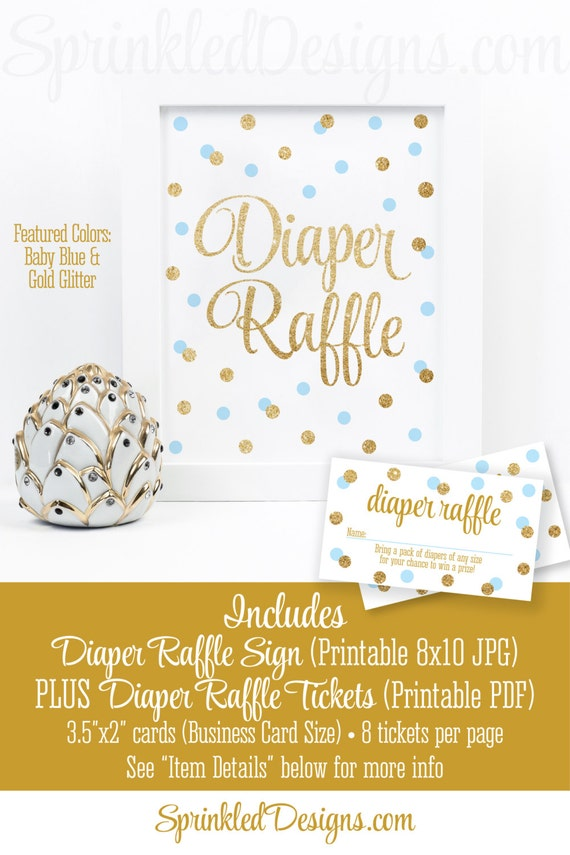 printable diaper raffle tickets  u0026 sign for boy baby shower