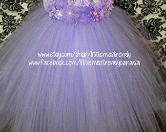 Lilac Flower Girl Dress, Lilac Tutu Dress, Lavender Tutu Dress,Light Purple Couture Tutu Dress, Lilac Couture Flower Girl Dress, Flower Girl