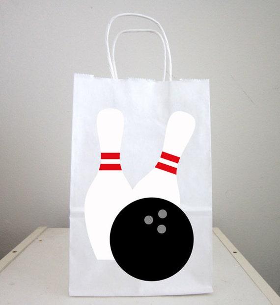 Bowling Goody Bags Bowling Favor Bags Bowling Gift Bags