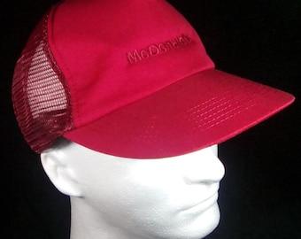 Vintage Trucker Hat, McDonald's Trucker Hat, McDonald's Restaurant, Made in USA, Mesh Trucker Hat, Snapback Cap, Baseball Cap, Trucker Cap