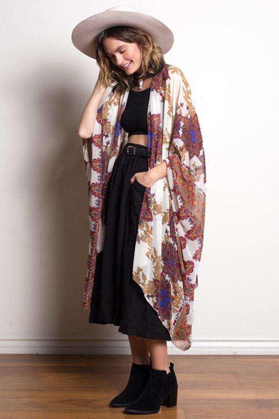 Boho Kimono | Multi Purple