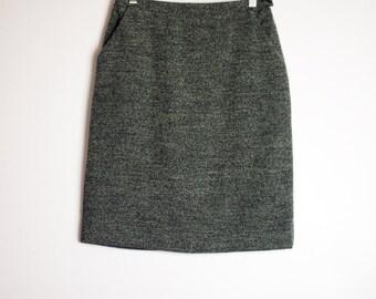 Tweed pencil skirt | Etsy