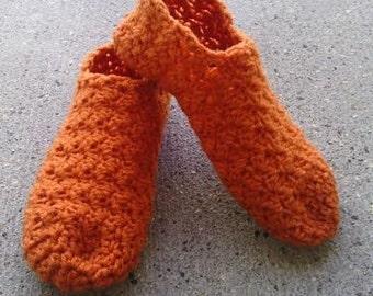 Women's Crocheted Slippers, Womens US Sizes, Crochet House Shoes, Crochet House Slippers, Custom Made Slippers, Shell Pattern Slippers