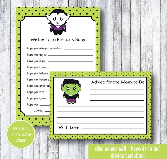 baby shower advice cards printable baby shower games monster baby