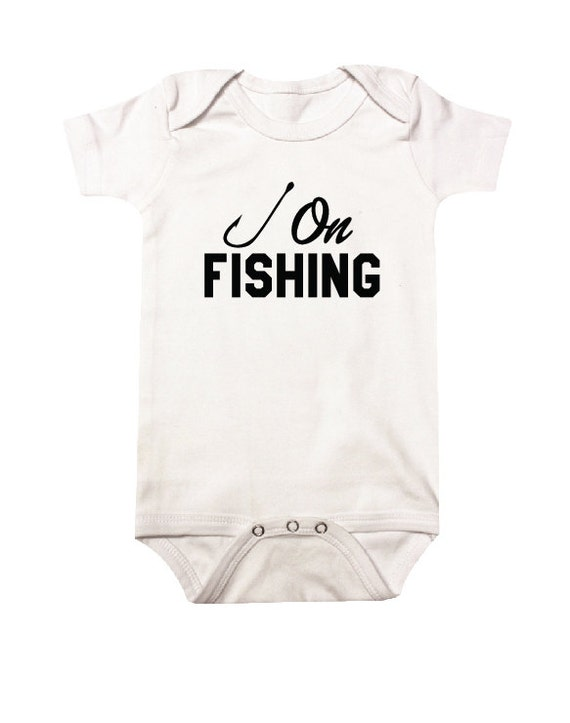 HOOK ON FISHING Baby Clothes Baby Bodysuit Baby Shower Gift