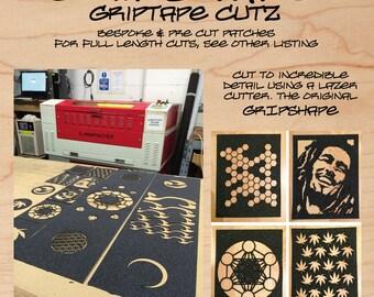 GRIPSHAPE Laser Cut Griptape Designs - Patches