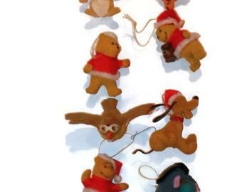 Disney Winnie The Pooh Fuzzy Ornaments, Christmas Ornaments,