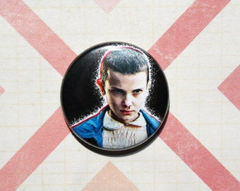 Stranger Things Eleven-One Inch Pinback Button Magnet