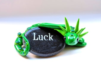 Luck Clay Dragon Figure