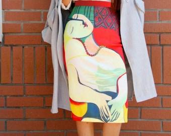 Fine Art Collection Pablo Picasso La reve The Dream lady Skrit