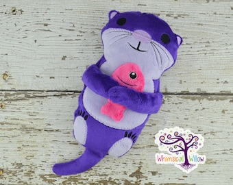 Purple Otter Stuffed Toy Set