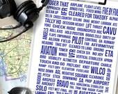 Aviation Decor, Pilot Lingo Print, Pilot Gifts, Aviation Gifts, Airplane Home Decor, Airplane Nursery, Gifts for Pilots, Aviation Art, AL102