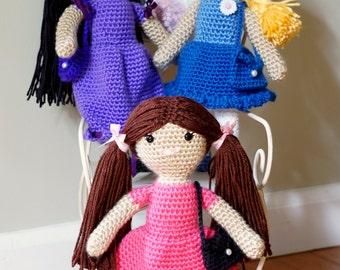 Little Girl Doll with Purse Crochet Pattern