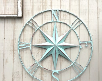 Nautical Compass Wall Art, Nautical Decor, Nautical Wall Art, Nautical Decor, Metal Compass Decor, Metal Wall Compass, Nautical Wall Art