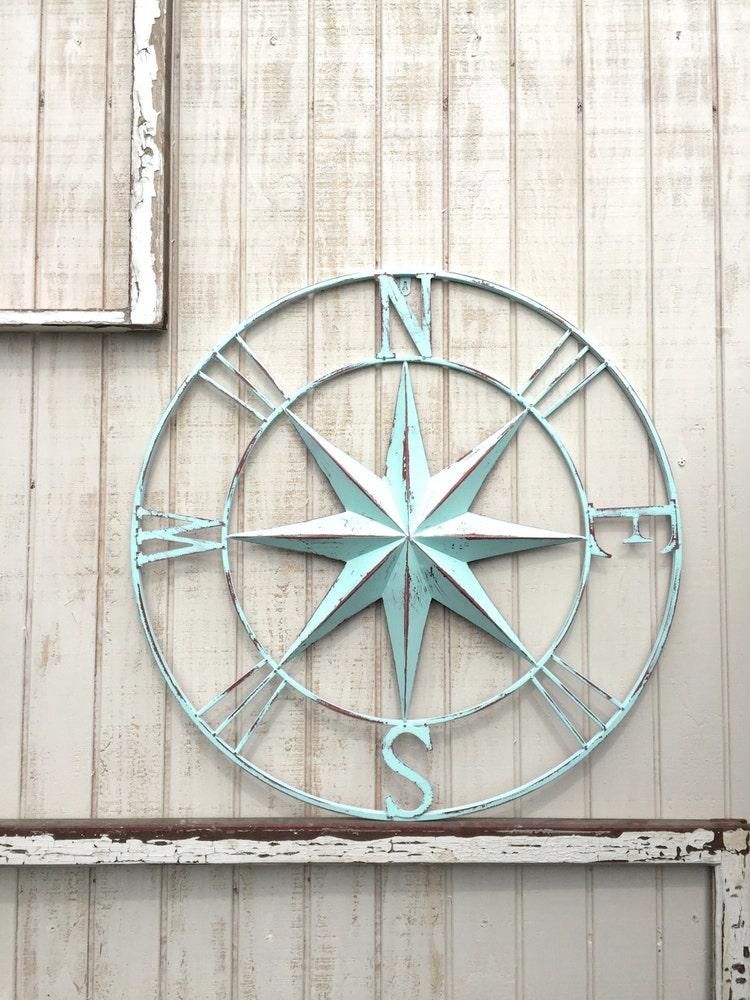 Maritime Decor: Nautical Compass Wall Art Nautical Decor Nautical By