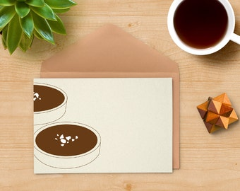 Chocolate tartlets illustration - pastry art - kitchen decor wall - dessert illustration - simple wall art - food illustration - pastry