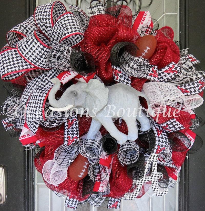 Alabama Football Wreath Door Hanger Crimson Tide Roll Tide