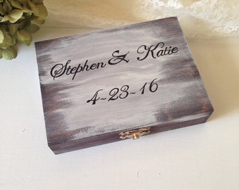 Personalized Ring Bearer Box Rustic Wedding Ring Bearer Pillow Alternative Rustic Ring Bearer Box Wedding Ring Box