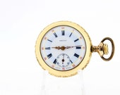 Gold Filled Locust Pocket Watch 7 Jewel Swiss