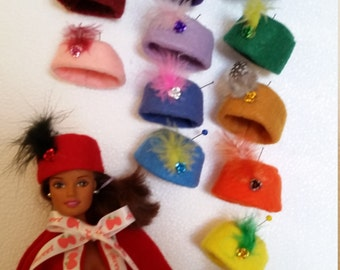 Adorable pill box hat for fashion dolls
