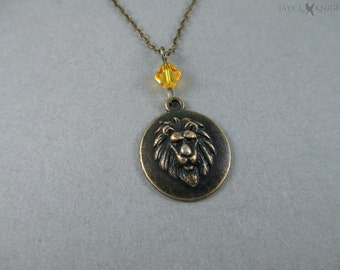 Narnia Aslan Lion Necklace - Bronze Charm