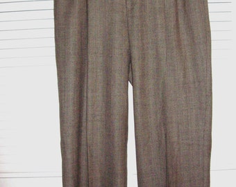 Pants, 8 ,  Ellen Tracy All Wool Winter Herringbone Wonderful Cuffed Pants Size 8