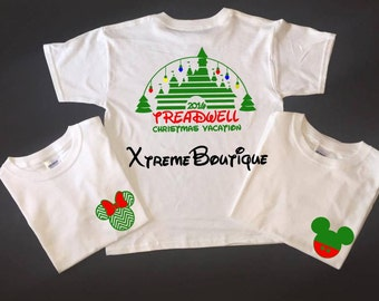Disney Family Christmas Shirts, free shipping