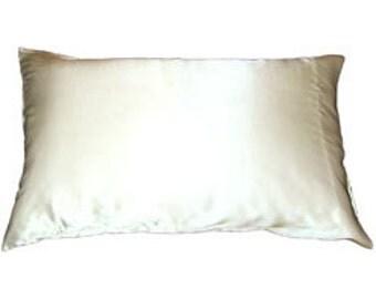 Silk Charmeuse Pillowcase, 16.5mm charmeuse silk pillow case