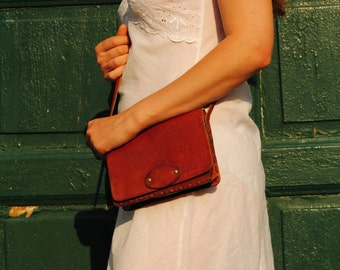 Leather purse, small leather purse, simple leather purse,womens leather shoulder bag, genuine leather bag