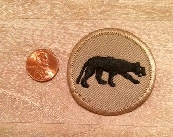 Jaguar Khaki and Black Circle Patch
